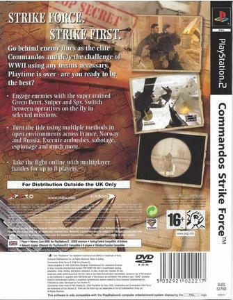 COMMANDOS STRIKE FORCE voor Playstation 2 PS2