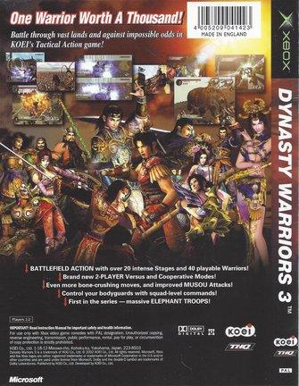 DYNASTY WARRIORS 3 voor Xbox