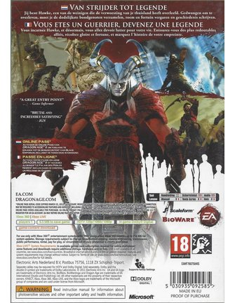DRAGON AGE II (2) voor Xbox 360