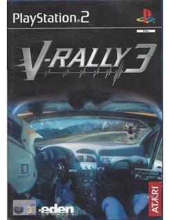V-RALLY 3 voor Playstation 2 PS2 - handleiding in het Engels