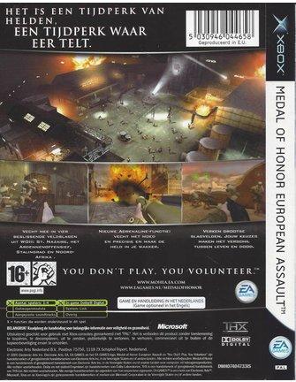 MEDAL OF HONOR EUROPEAN ASSAULT for Xbox