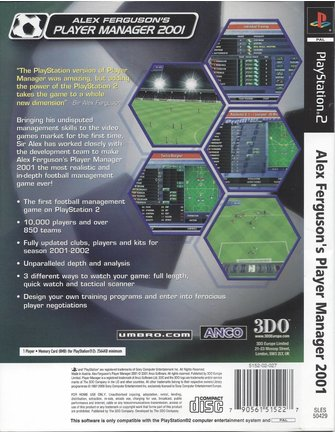 ALEX FERGUSON'S PLAYER MANAGER 2001 voor Playstation 2 PS2