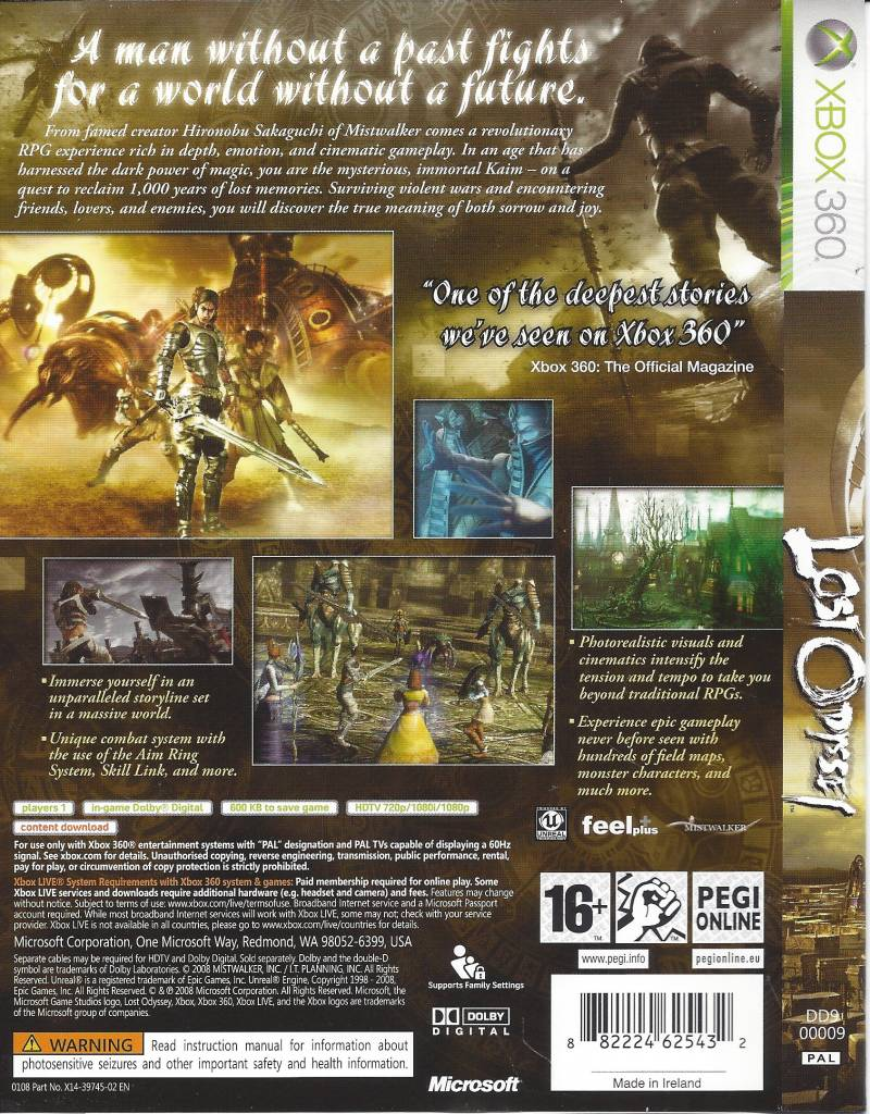 Lost Odyssey For Xbox 360 Passion For Games Webshop Passion