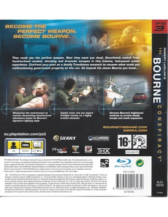 THE BOURNE CONSPIRACY voor Playstation 3 PS3