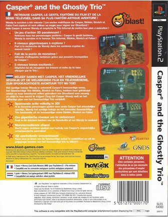 CASPER AND THE GHOSTLY TRIO voor Playstation 2 PS2