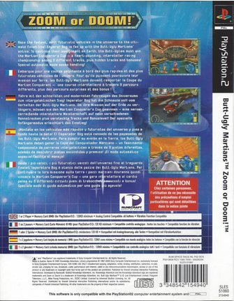 BUTT-UGLY MARTIANS ZOOM OR DOOM voor Playstation 2 PS2