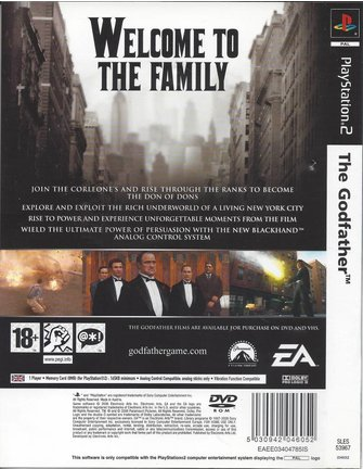 THE GODFATHER for Playstation 2 PS2 - manual in EN