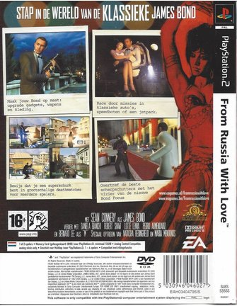FROM RUSSIA WITH LOVE für Playstation 2 PS2