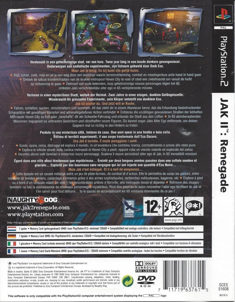 Jak Ii Renegade Für Playstation 2 Ps2 Passion For Games Webshop