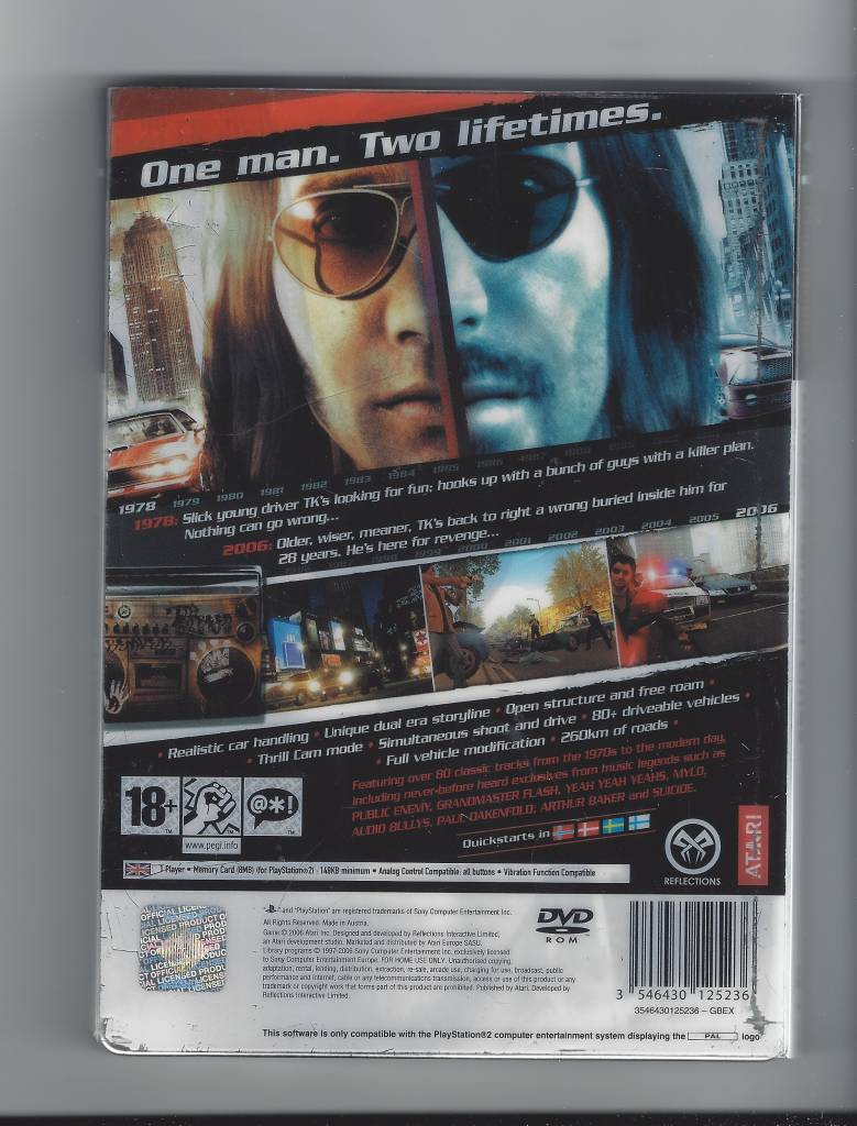 Driver Parallel Lines for Playstation 2 PS2 - Passion for