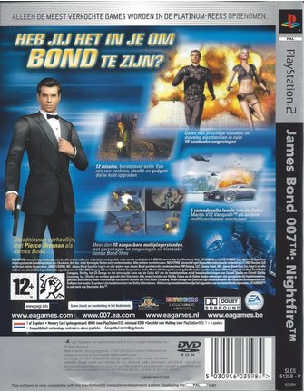 JAMES BOND 007 NIGHTFIRE for Playstation 2 PS2