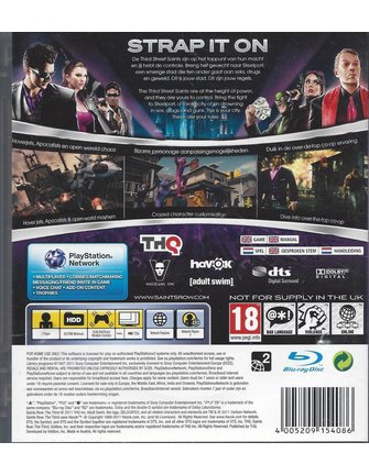 SAINTS ROW THE THIRD for Playstation 3 PS3