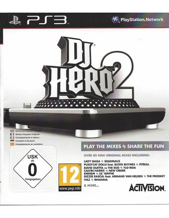 DJ HERO 2 for Playstation 3 PS3