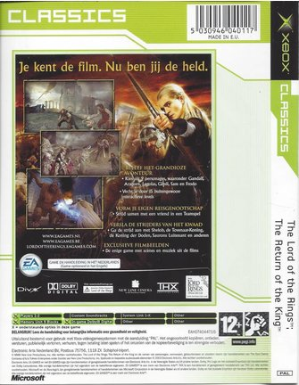 THE LORD OF THE RINGS - THE RETURN OF THE KING voor Xbox