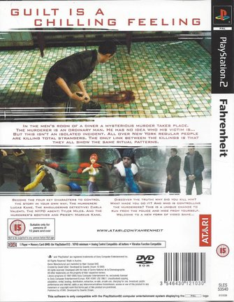 FAHRENHEIT for Playstation 2 PS2