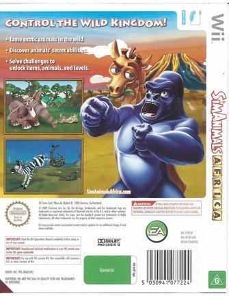 SIMANIMALS AFRICA for Nintendo Wii