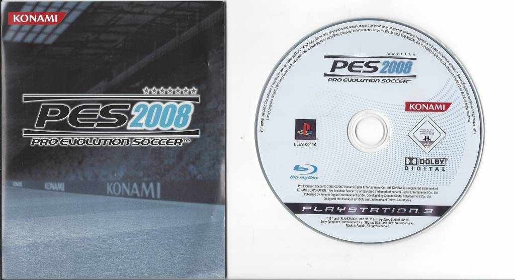 PES 2008 for Playstation 3 PS3 - Passion for Games Webshop