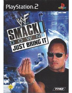 WWF SMACKDOWN JUST BRING IT voor Playstation 2 PS2 - handleiding in DE FR