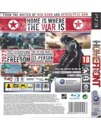 HOMEFRONT voor Playstation 3 PS3