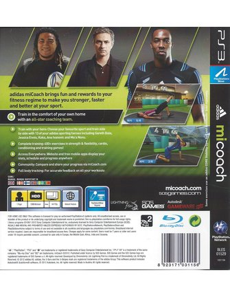 ADIDAS MICOACH voor Playstation 3 PS3