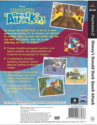 DONALD DUCK QUACK ATTACK for Playstation 2 PS2