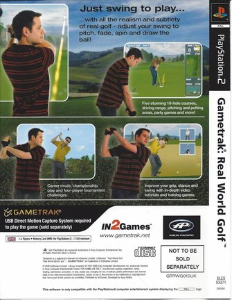 GAMETRAK REAL WORLD GOLF for Playstation 2 PS2