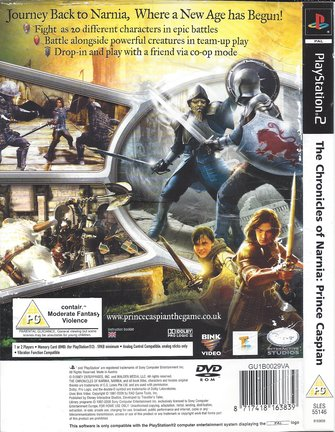 THE CHRONICLES OF NARNIA - PRINCE CASPIAN for Playstation 2 PS2