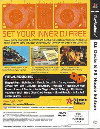 DJ DECKS & FX HOUSE EDITION für Playstation 2 PS2