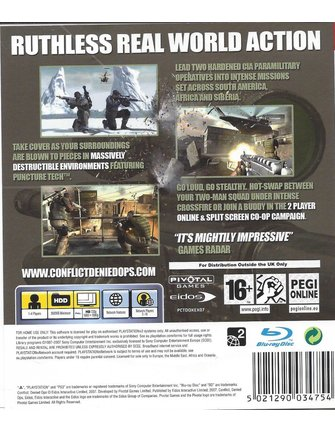 CONFLICT DENIED OPS voor Playstation 3 PS3