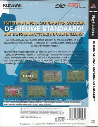 INTERNATIONALSUPERSTAR SOCCER voor Playstation 2 PS2
