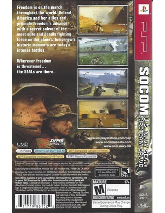 SOCOM U.S. NAVY SEALS FIRETEAM BRAVO for PSP