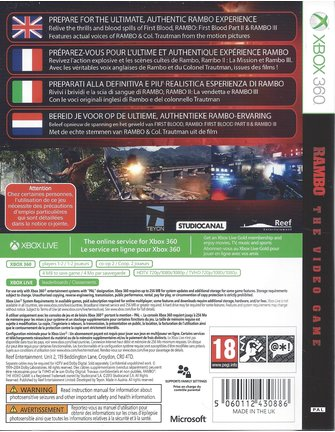 RAMBO THE VIDEO GAME for Xbox 360