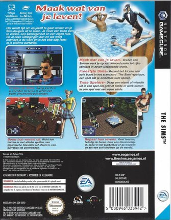 THE SIMS voor Nintendo Gamecube