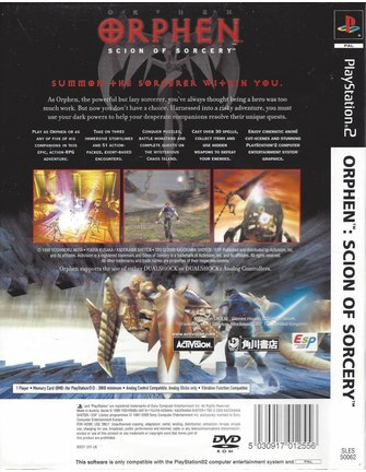 ORPHEN SCION OF SORCERY voor Playstation 2 PS2