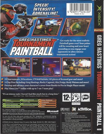GREG HASTINGS' TOURNAMENT PAINTBALL für Xbox