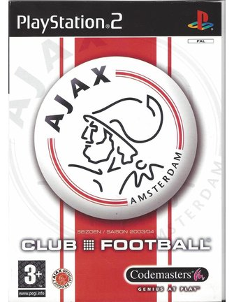 AJAX CLUB FOOTBALL voor Playstation 2 PS2