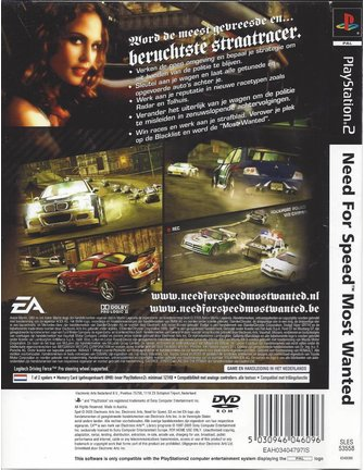 NEED FOR SPEED MOST WANTED voor Playstation 2 PS2