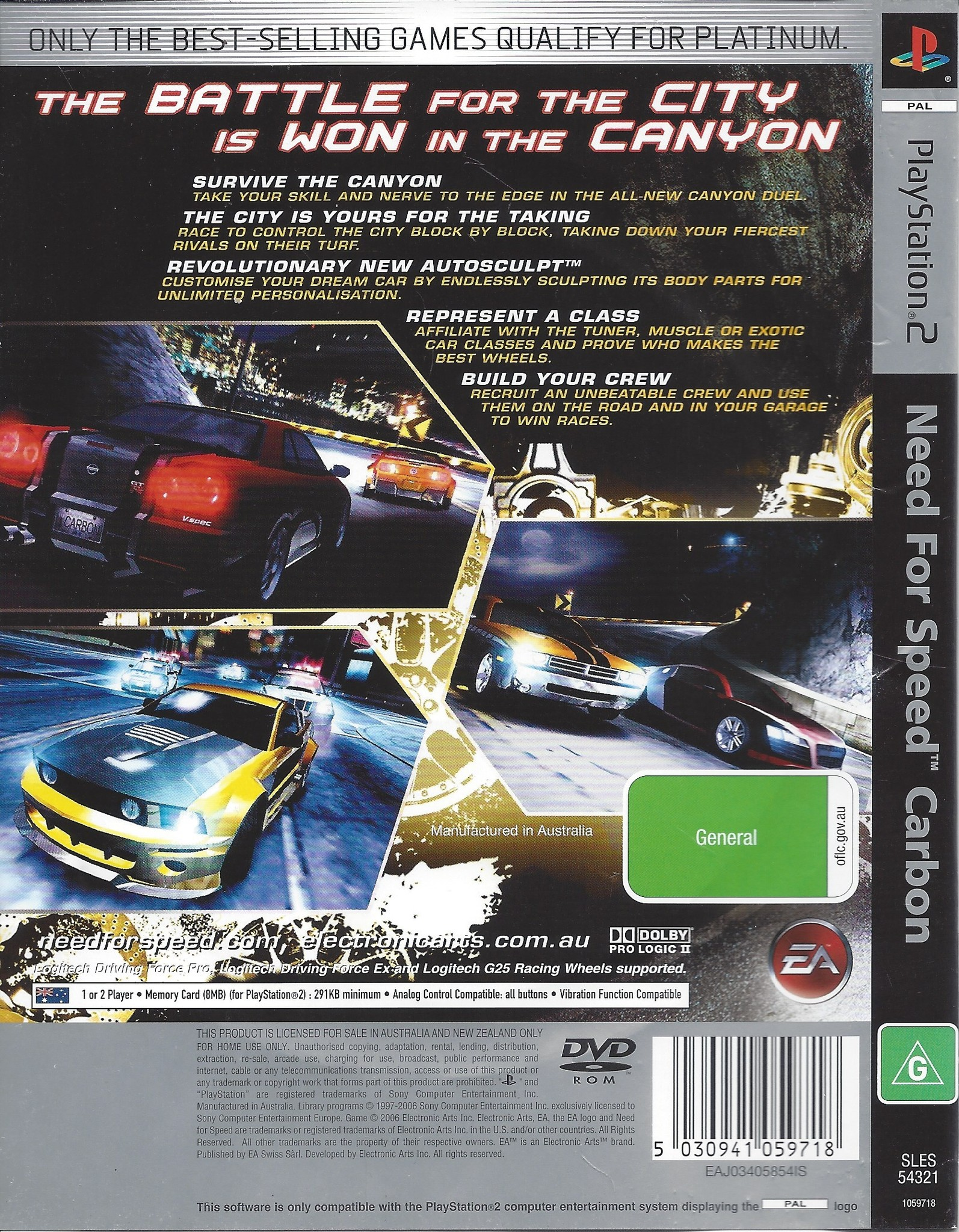Need For Speed Carbon For Playstation 2 Ps2 Passion For Games