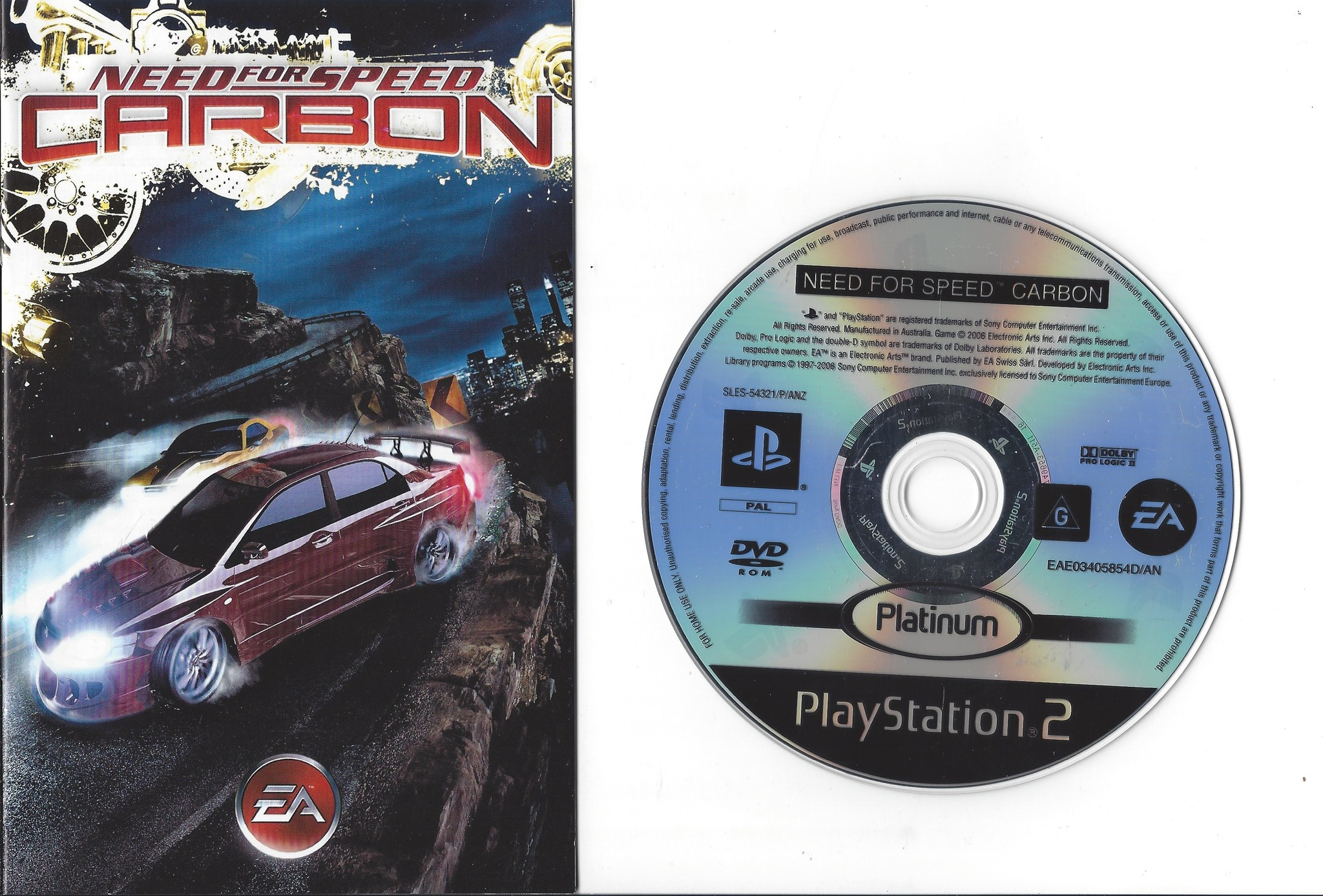 Need for Speed Carbon for Playstation 2 PS2 - Passion for