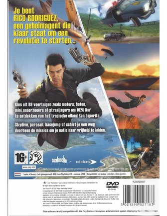 JUST CAUSE voor Playstation 2 PS2