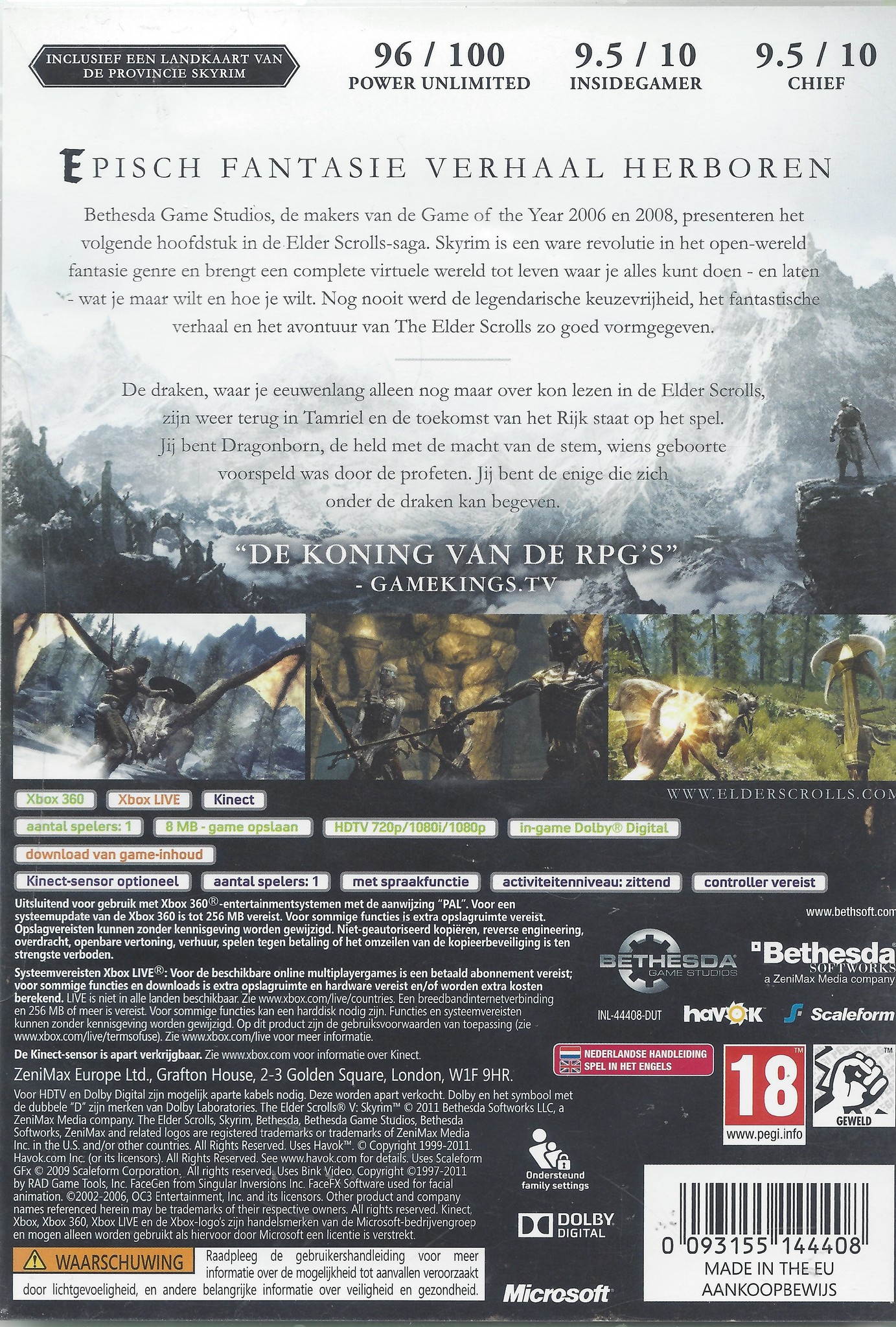The Elders Scrolls V Skyrim for Xbox 360 - Passion for Games Webshop