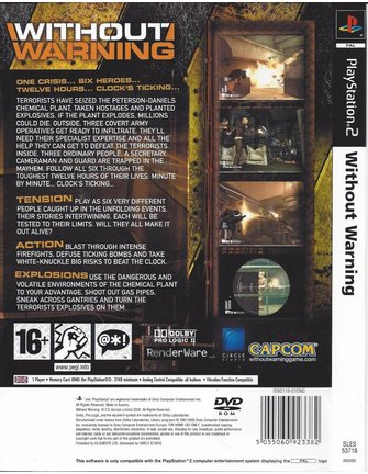 WITHOUT WARNING for Playstation 2 PS2