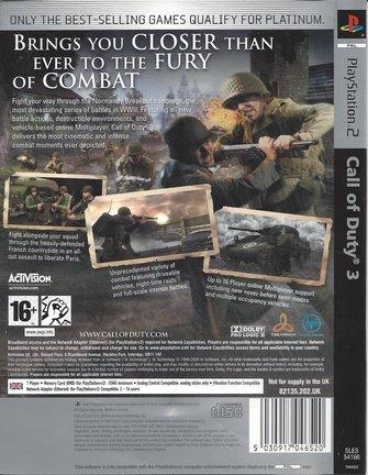 CALL OF DUTY 3 für Playstation 2 PS2 - Platinum