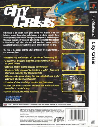 CITY CRISIS  für Playstation 2 PS2