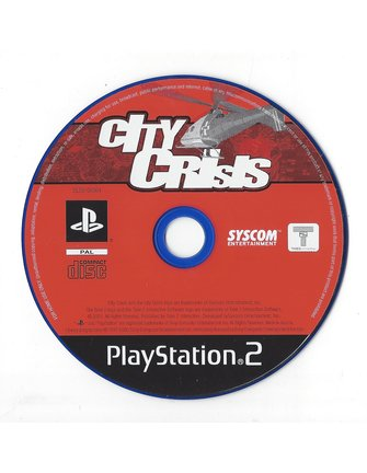 CITY CRISIS  for Playstation 2 PS2