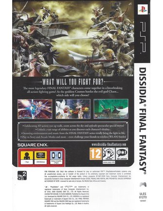 DISSIDIA FINAL FANTASY für PSP