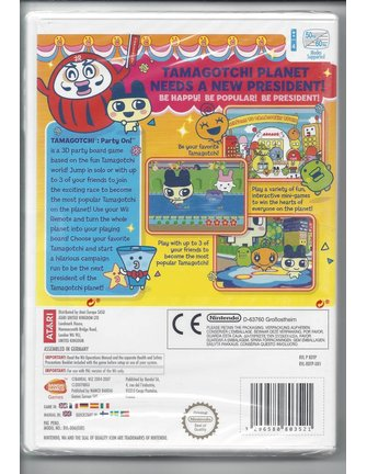 TAMAGOTCHI PARTY ON for Nintendo Wii - NEW in seal - manual in English