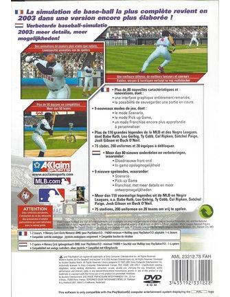 ALL-STAR BASEBALL 2004 voor Playstation 2 PS2