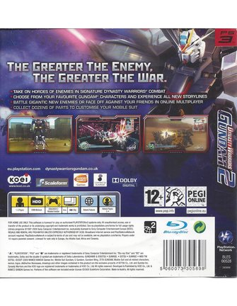 DYNASTY WARRIORS GUNDAM 2 voor Playstation 3 PS3