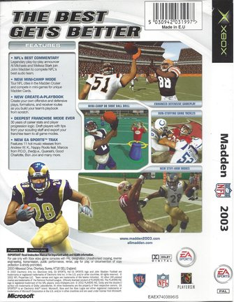 MADDEN NFL 2003 for Xbox